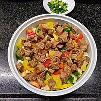 营养丰富又好吃的杏鲍菇彩椒牛肉粒,不用明火也可以做的做法图解5