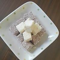 『独家升级/零难度美味甜品』椰奶小方巧克力版(超详细步骤)的做法
