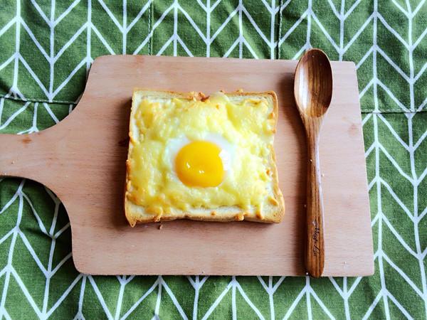 黄金芝士焗烤鸡蛋土司的做法