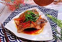 #我们约饭吧#清蒸黑皖鱼腩的做法