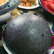 黑芝麻黑米全麥饅頭