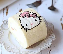 hellokitty彩绘蛋糕卷:的做法