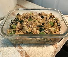 泡菜肉丝炒饭的做法
