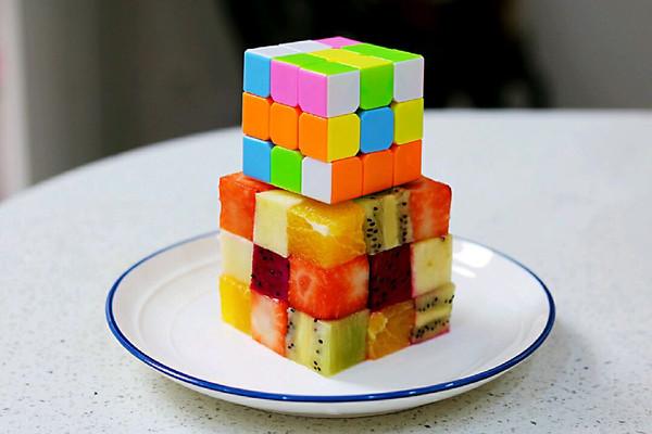 魔方水果拼盘的做法