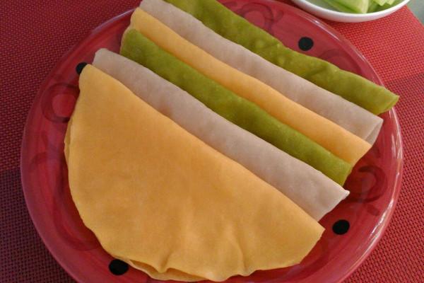 三色春饼荷叶蒸饼的做法