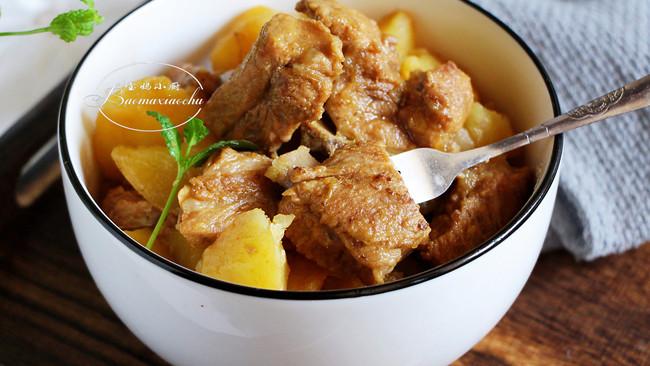 孩子长身体常吃的菜~排骨炖土豆的做法