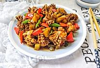 酸菜梗炒鸡胗花的做法