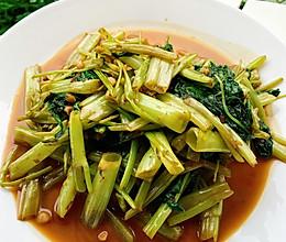 风靡泰国的虾酱炒空心菜的做法