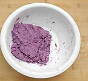 紫薯芝麻饼的做法图解2