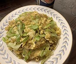 卷心菜鸡蛋炒粉丝的做法