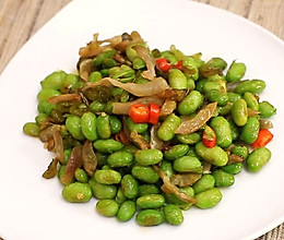 香辣毛豆炒肉丝-迷迭香的做法