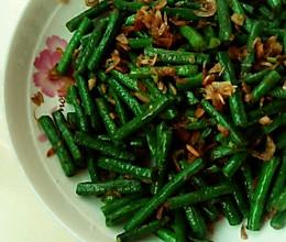虾皮炒豇豆的做法