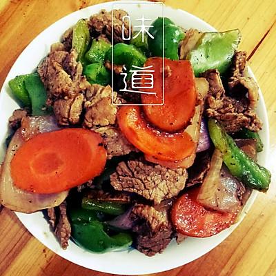 健身餐之牛肉洋葱炒青椒
