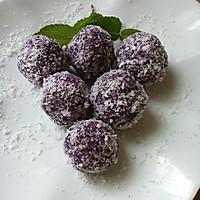 小点心~椰蓉紫薯球。的做法图解9