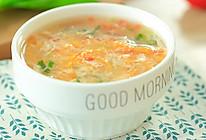 有效的补铁、补锌 番茄蛋花汤-面的做法