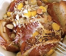 火腿奶酪烤法棍布丁的做法