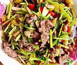 小炒双椒牛肉的做法