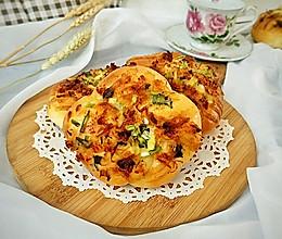 #晒出你的团圆大餐#香葱海苔肉松面包的做法