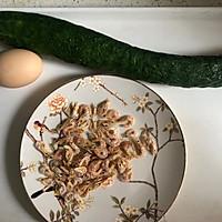 #花10分钟,做一道菜!#黄瓜虾米蛋汤的做法图解1