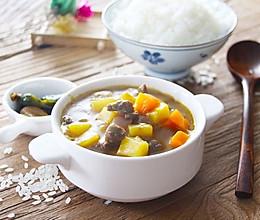 周末睡懒觉后最适合的早午餐-咖喱牛肉饭的做法
