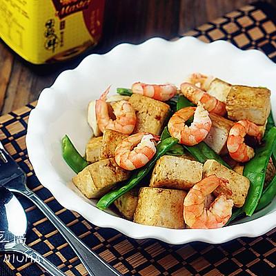 淡酱虾仁豆腐