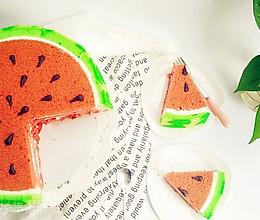 小清新西瓜蛋糕(附超详细各个步骤解析+失败案例分析)的做法