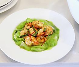 鲜虾炒丝瓜的做法
