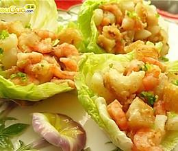 生菜虾松卷的做法