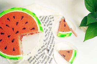 小清新西瓜蛋糕(附超详细各个步骤解析+失败案例分析)