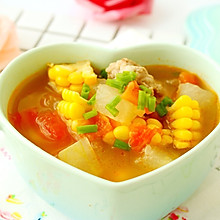 玉米番茄排骨汤
