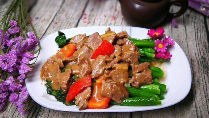 【新品】潮汕家乡菜——沙茶牛肉炒芥兰,不能忘却的味道
