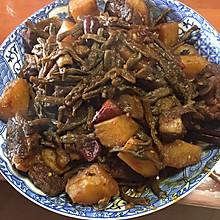 干豆角土豆红烧肉