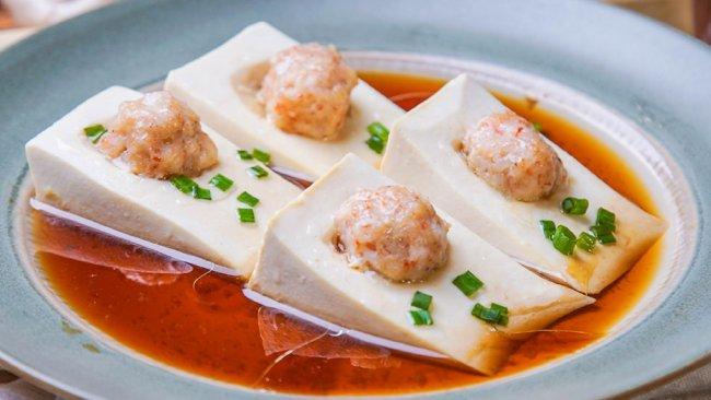 虾滑蒸豆腐的做法