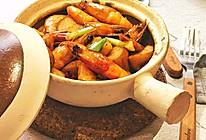 鲜辣海虾煲杏鲍菇的做法