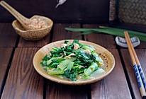 虾皮小白菜#松下多面美味#的做法