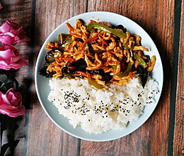 #今天吃什么  鱼香肉丝饭的做法