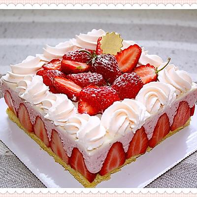 留住春天的气息--草莓芝士慕斯