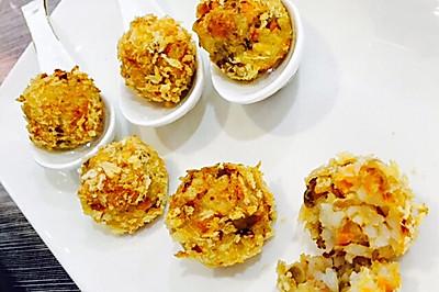 榨菜米饭肉丸