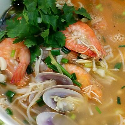 鲜虾花甲汤