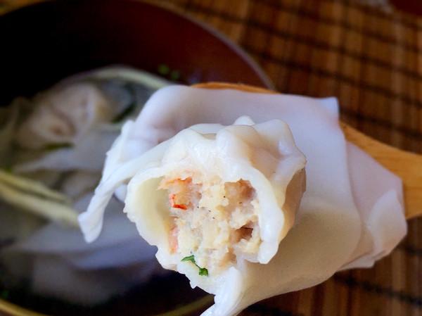 虾肉馄饨的做法