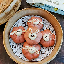 【蒸】兔兔樱花馒头