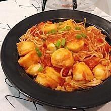 #餐桌上的春日限定# 番茄金针菇烧日本豆腐!超下饭!