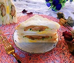 #秋天怎么吃#鸡腿蛋三明治的做法