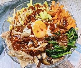 #换着花样吃早餐#手残党必备 分分钟光盘的肥牛韩式拌饭的做法