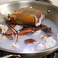 ·龙虾粥·鲜美养生粥 附详细的大龙虾分解方法的做法图解8