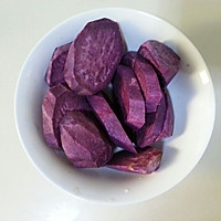 椰香紫薯糯米糍的做法图解1