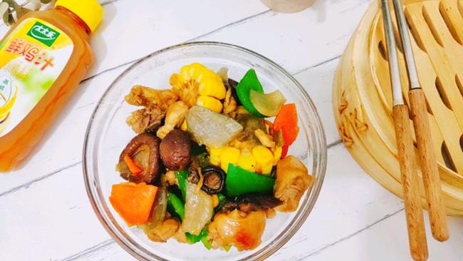 香菇焖鸡#太太乐鲜鸡汁玩转健康快手菜#的做法