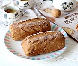 红糖肉桂核桃面包的做法