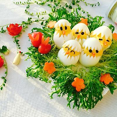 蛋黄萌小鸡沙拉