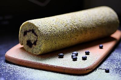 黑豆面蓝莓蛋糕卷